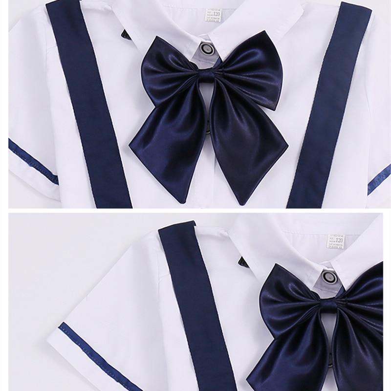 Baby Twin Clothing Sets Boys Girls Japanese Korean Kindergarten School Uniforms Kids Gentleman Shirt + Shorts + Tie Clothes Sets