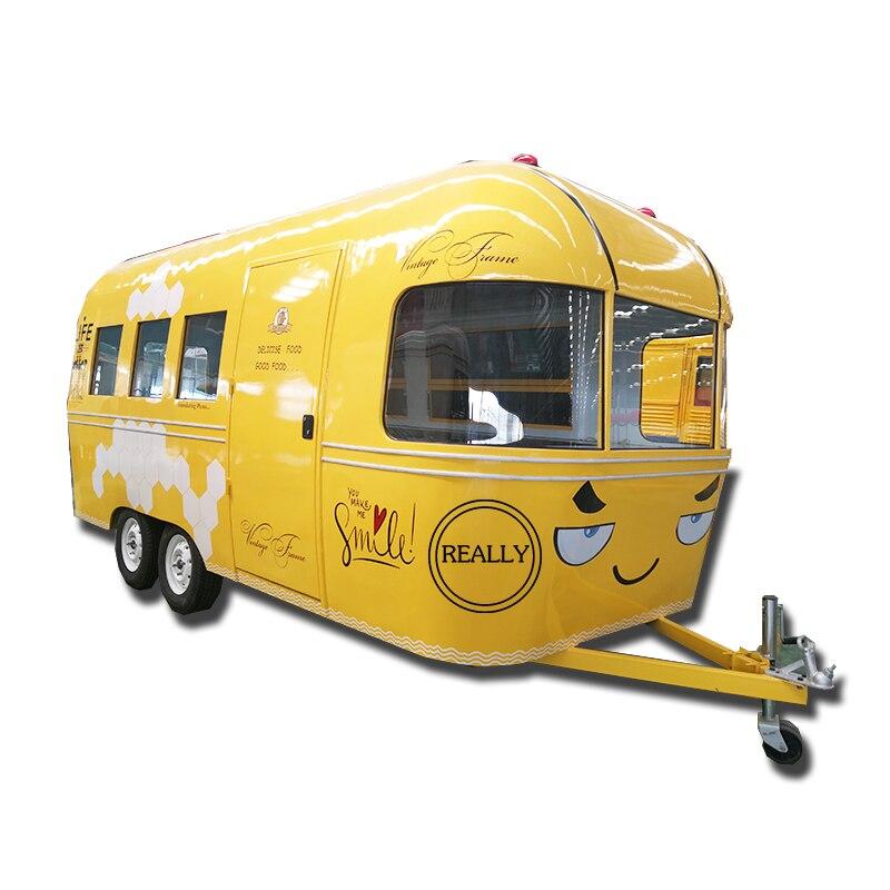 Móvil remolque concesión alimentos helado comida caravana café furgoneta de comida