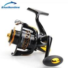 جديد 12 + 1BB 5.5: 1 الغزل المعدنية الصيد بكرة بيكي الأسماك عجلة الغزل بكرة الصيد معالجة 2000-7000