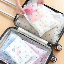 Portable Travel Storage Bag Organizer Clothes Transparent Plastic Package Luggage Partition Storage Bag Zipper Lock Self Seal