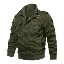 Automne hommes coton casual poche vestes militaires manteau hommes Air Force pilote hiver Streetwear pardessus vêtements grande taille 6XL