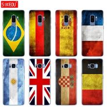 Silikon fall für Samsung Galaxy S9 S8 S7 S6 rand S5 S4 S3 PLUS telefon abdeckung Brasilien Frankreich Argentinien Flagge