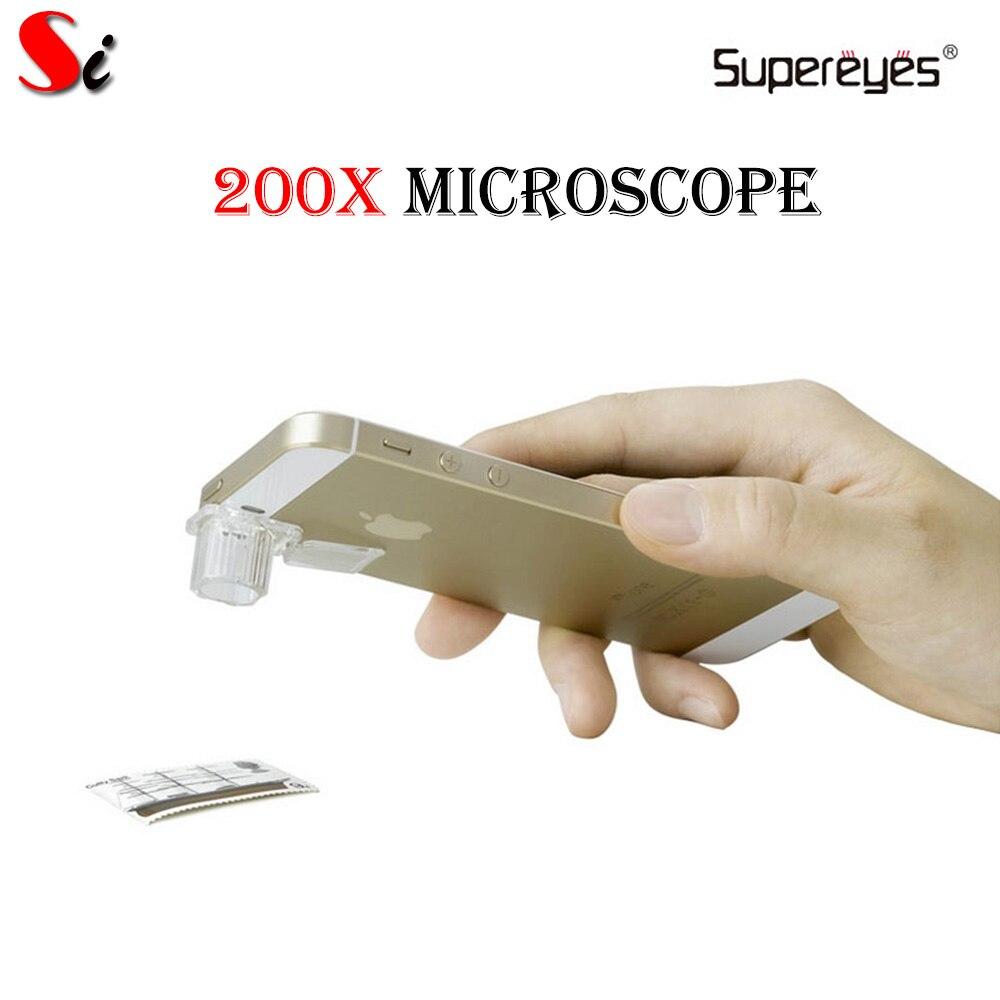 Microscopio Digital de ovulación Supereyes S001 200X para teléfono Android IOS