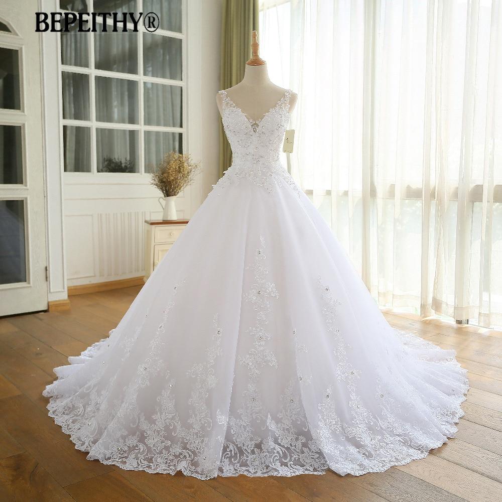 Gorgeous Ball Gown Wedding Dress With Lace Vestido De Novia Princesa Vintage Wedding Dresses Real Image Bridal Gown 2020