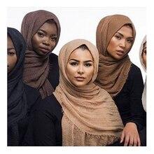180*95 سنتيمتر القطن و الكتان النساء الحجاب السيدات بسيطة الصلبة طويل شال وشاح الرأس الإناث اليومية التفاف الحجاب عادي حجاب إسلامي