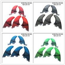 Surfboard FCS2 G5+GL fins Black/Blue/Red/Green color Honeycomb Fibreglass fin Tri-quad fin set