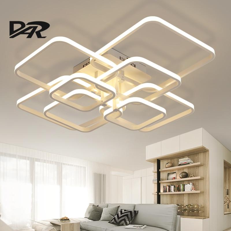 Moderna Lámpara de Techo LLEVADA Rectángulo de Acrílico De Aluminio Luces de Techo Para la Sala de estar Dormitorio Luminaria LED Lampen Lustre Luminaria