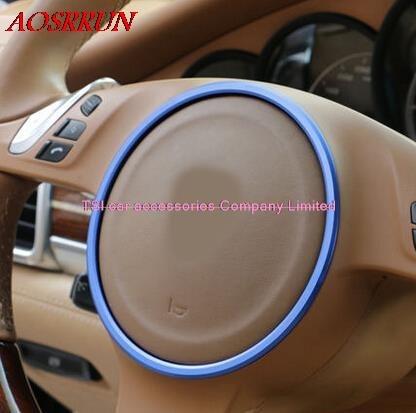 Модифицированный Автомобильный руль, специальный декоративный круг для PORSCHE cayenne Panamera S 911 Boxster, 3D стикер, на выбор, 3 вида цветов