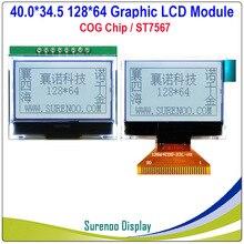 40,0X34,5 MM 12864 128X64 serie SPI FSTN gráfico COG LCD módulo pantalla/LCM integrado ST7657 Compatible con ST7565P/R