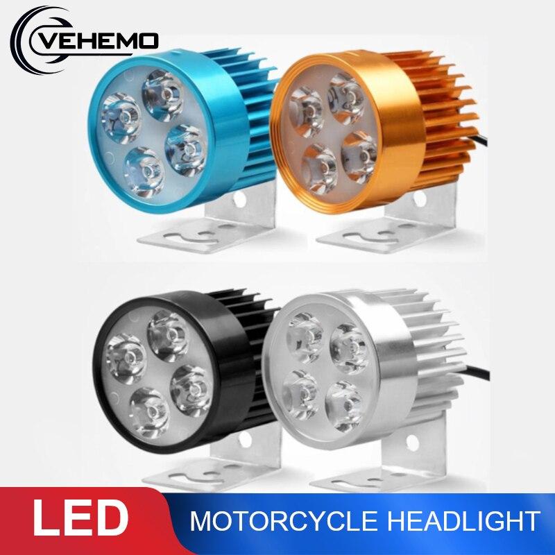 Faro LED para motocicleta 12V-90V, faro delantero para Moto, faro delantero para motocicleta, luces antiniebla LED impermeables para motocicletas