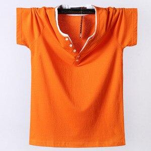 Man's t-shirt Plus Size 6XL 7XL 8XL 2019 Summer Cotton t shirt men v-neck Solid Men's Shirt Tops Tee Short Sleeve tops & tees