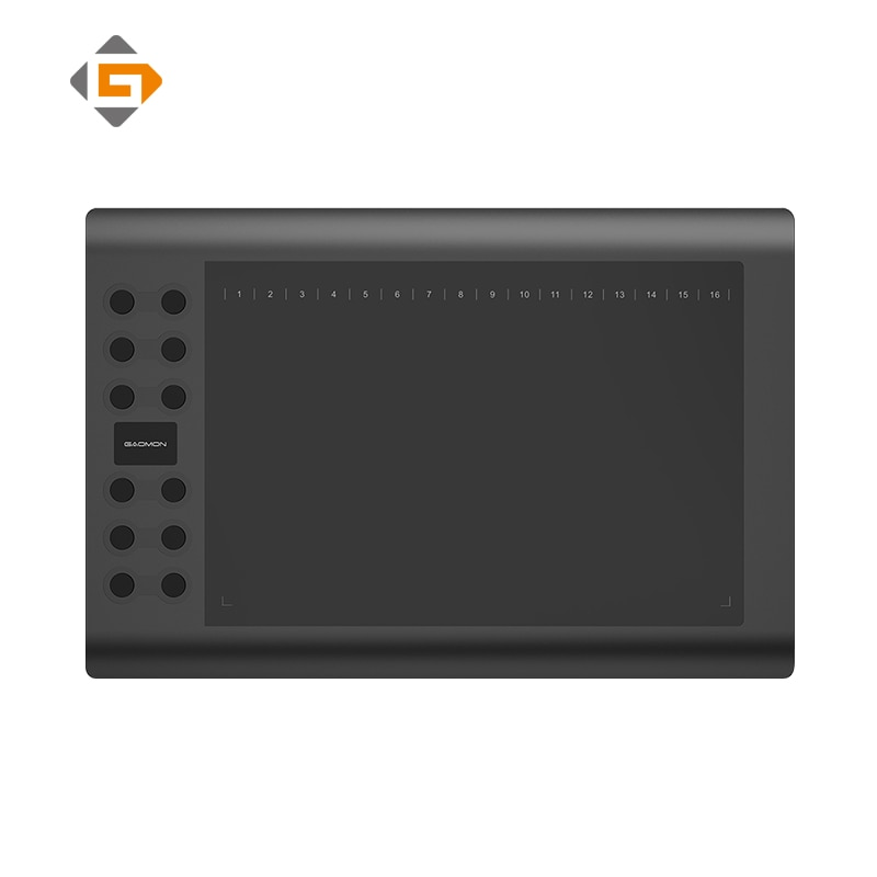 GAOMON M106K-tableta de dibujo profesional, tableta de escritura Digital de animación para Artista con 12 teclas exprés