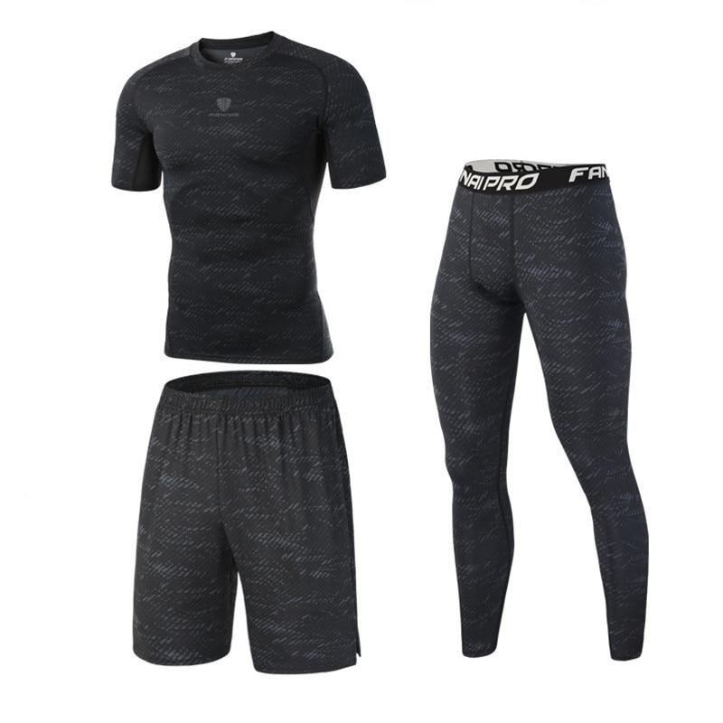 MMA Fightwear Muay Thai Men MMA Boxing Set Compression Jersey+Pants + Shorts Rashguard KickBoxing Tight Long T-Shirts Trousers