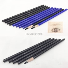 Crayon de conception de sourcil de tatouage imperméable en bois de 5 pièces pour le maquillage permanent