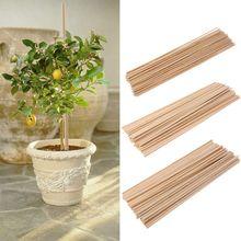 50 Houten Plant Grow Ondersteuning Bamboe Plant Sticks Tuin Canes Planten Bloem Ondersteuning Stick Cane APR-30
