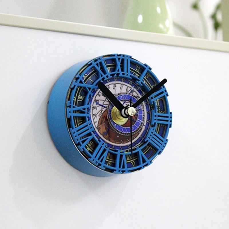 Ванная комната Кухня Водонепроницаемый душ стены мини часы watermel часы на присоске чашка на батарейках гостиная современный модный дизайн