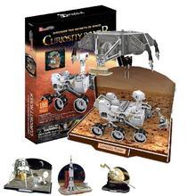 T0480 3D Puzzles Voyager sonde spatiale, Rover curiosité, Module lunaire Apollo, saturne V modèle en papier à monter soi-même jouets éducatifs pour enfants