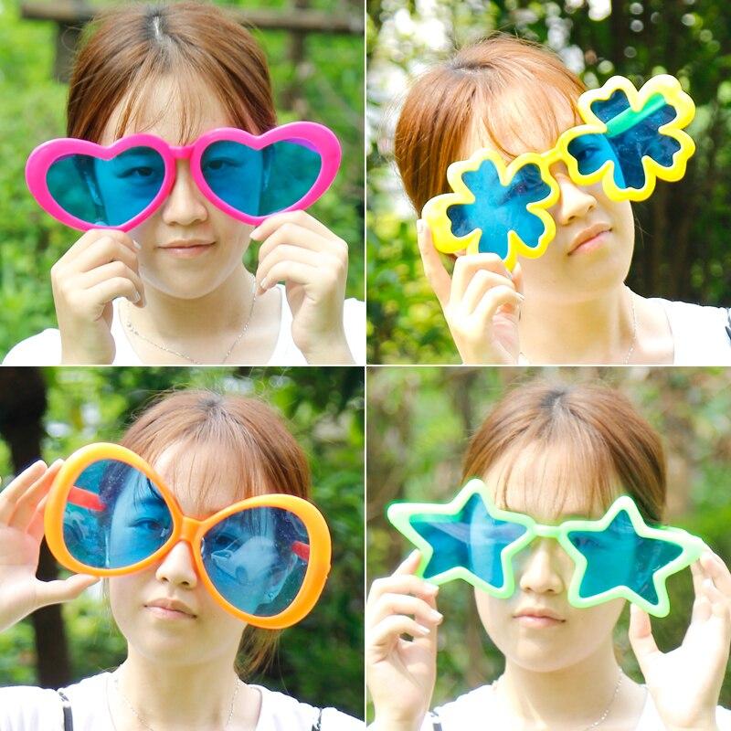 Lunettes de soleil en plastique coloré   Lunettes surdimensionnées, jouet amusants de lunettes pour la fête de noël, anniversaire Halloween, livraison gratuite