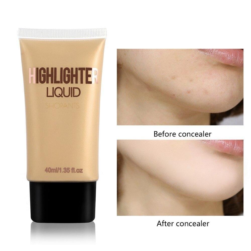 Corrector facial para el cuerpo resaltador Primer maquillaje crema líquida iluminador para brillo piel perector Cremas de día humectantes