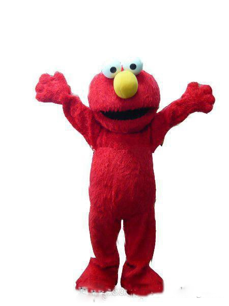 Rojo disfraz de Elmo mascota disfraces de Halloween Navidad Fiesta tamaño adulto vestido de lujo