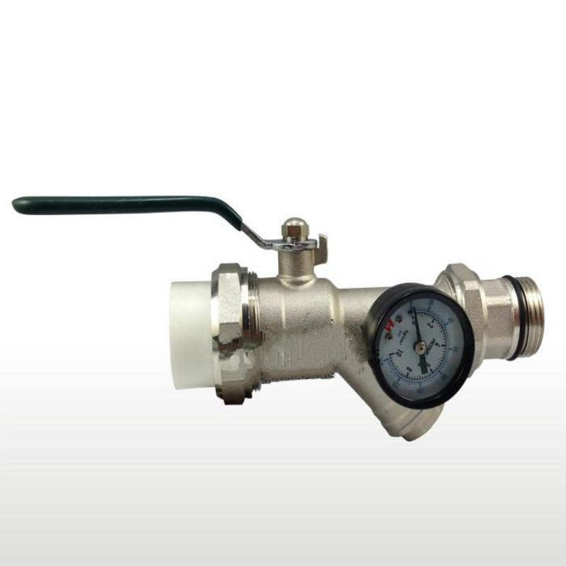 PPR фитинги фильтр латунный шаровой клапан коллектор многофункциональный клапан DN25