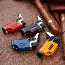 Double Nozzle Torch Turbo Lighter  gas Lighter Spray Gun  Lighter Blue Flame  1300C Butane Cigarettes Lighters