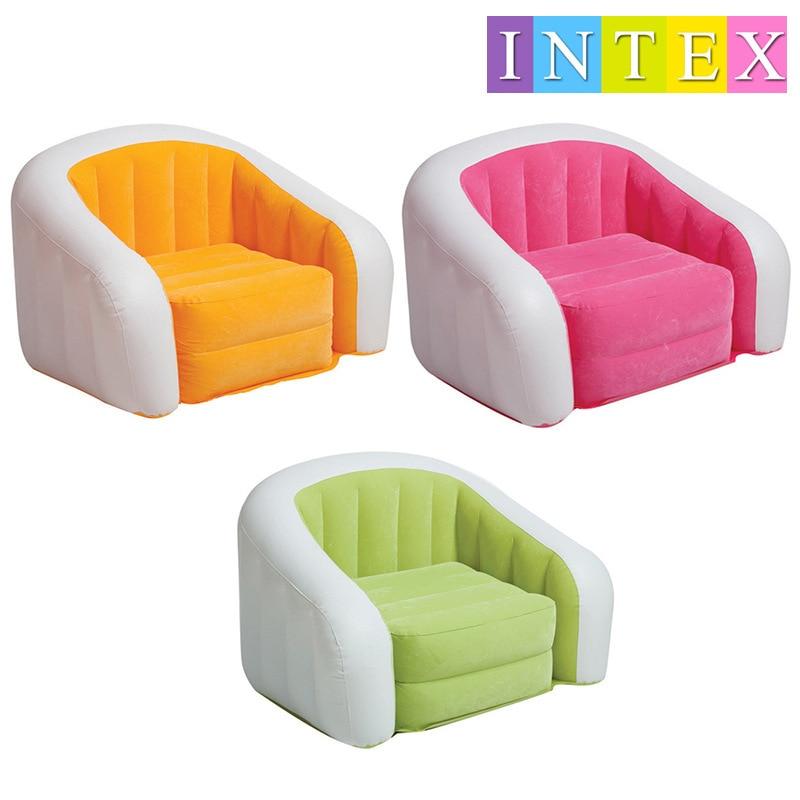 INTEX new inflatable flocked sofa lazy sofa comfortable chair 68571