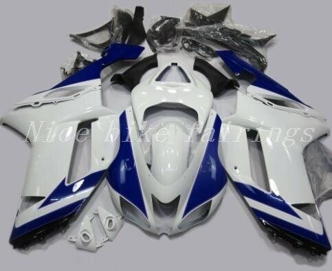 3 regalos, Kit de carenados de moto Abs nuevo para kawasaki Ninja ZX6R 636 2007 2008 07 08 6R, carrocería ZX-6R personalizada, blanco y azul