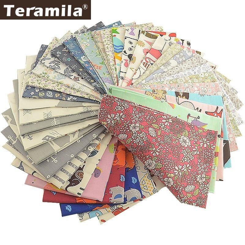 Teramila 100% Cotton Fabric Meter Animal Floral Cartoon Design Telas Por Metro 50x160cm Cloth DIY Tissu Sewing Dress Quilts Baby