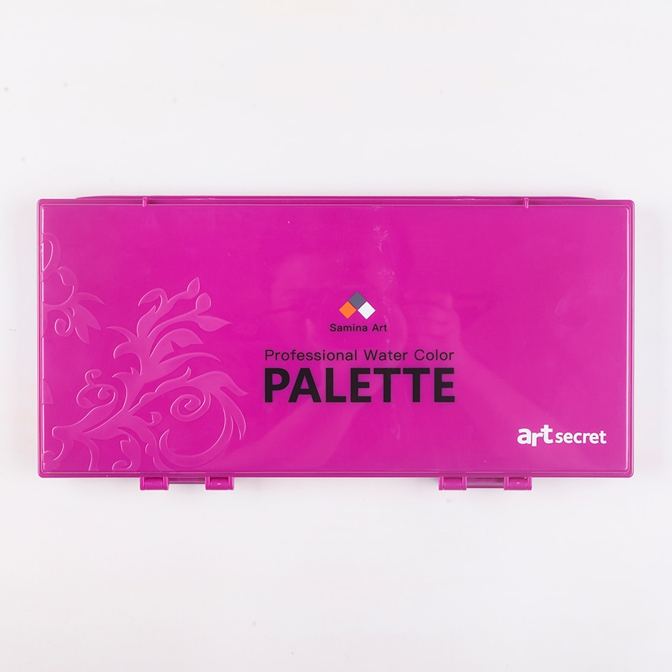 WCS-633  --33 wells watercolor palette watercolor moisture preserve box sealed palette  painting tool art supplies