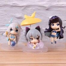 3pcs/set Honkai Impact 3rd Action Model Toy Swimsuit Ver. Bronya Zaychik Raiden Mei Kiana Kaslana PVC Collectible Figure