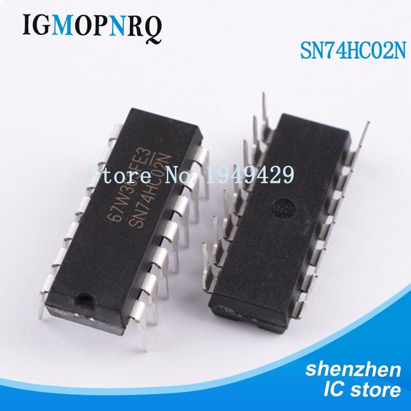 10 piezas envío gratuito 74HC02N 74HC02 SN74HC02N SN74HC02 DIP-14 puertas logicas QUAD 2-entrada ni puerta nuevo original