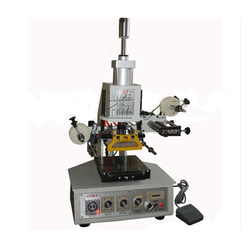 Estampillage en cuir de la Machine 90-2 daluminium de estampillage à chaud davion pneumatique de bureau, estampillage de logo de chaussures