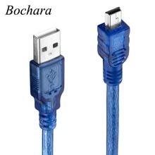 Bochara Mini 5P USB câble USB 2.0 Type A mâle à Mini 5P mâle câble de données double blindage (feuille + tressé) 30cm 50cm 1m