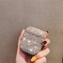 Роскошный 3D милый Bling Diamond беспроводной Bluetooth наушники аксессуары Жесткий Чехол для Apple Airpods 2 1 защитный чехол для зарядки