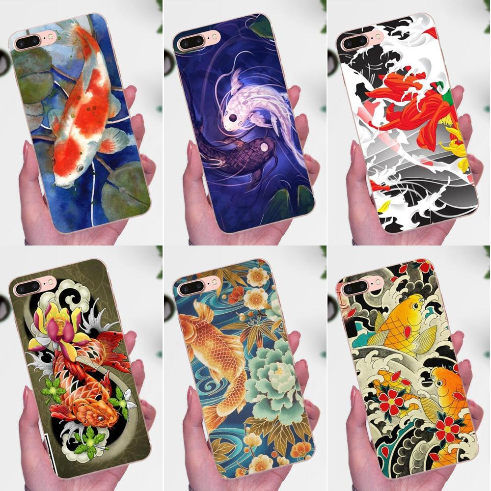 Tatuaje japonés Koi Fish Soft TPU funda móvil para Xiaomi Redmi Note 2 3 3S 4 4A 4X 5 5A 6 6A Pro Plus