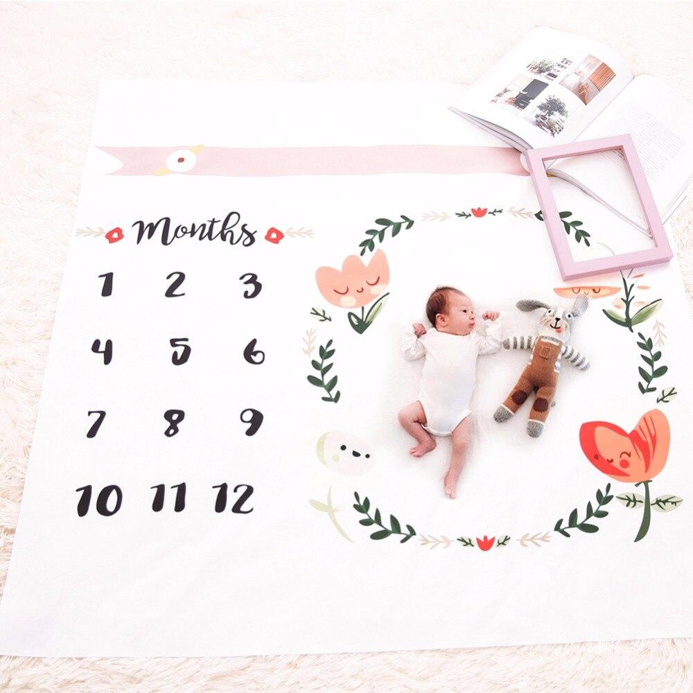 Mantas para bebé, accesorios de fotografía recién nacido, toallas de baño de moda, estampado de flores, manta suave, DIY para niños