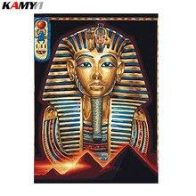 Diamante egipcio Faraón bordado religión cuadrado completo diamante pintura punto de cruz mosaico imágenes costura decoración XY1