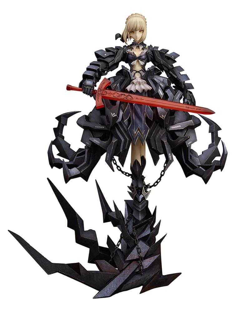 El Anime japonés GSC el destino noche estancia Saber alterar Huke cifras negro luchando Saber Huke PVC figura de acción Anime figuras en miniatura de juguete