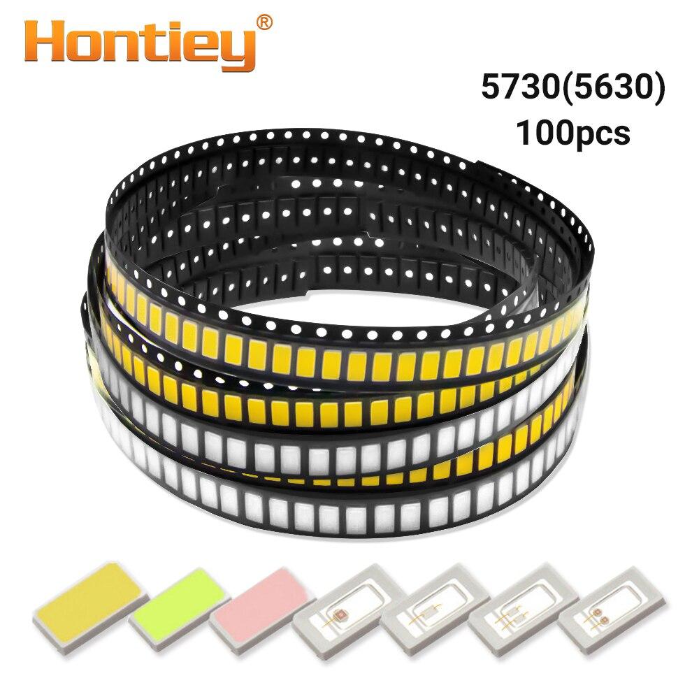 Hontiey SMD 5730/5630 Chip LED blanco cálido Azul Rojo verde amarillo diodo de luz cuentas para LED tira de foco bombilla diodo lámpara Diy