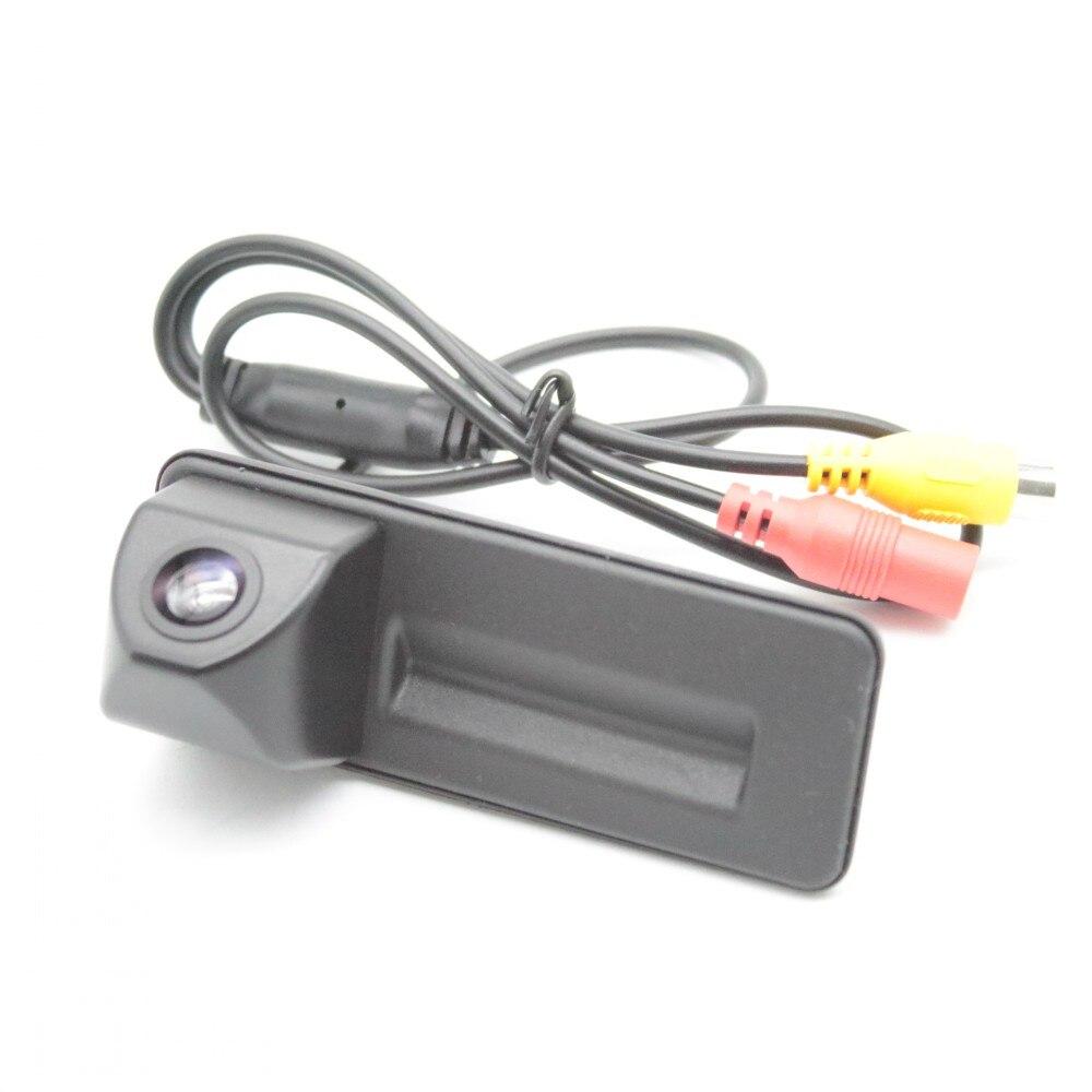 EEMRKE CCD HD Nachtzicht Auto Achteruitrijcamera Kofferbak Handvat Camera voor Skoda Octavia 1Z Vervangen 1Z0827574C/1Z0827574B