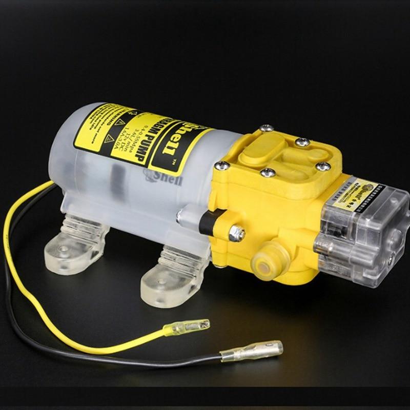 Nova dc 12 v 30 w fluxo 2l/min alta presure diafragma bomba jardim flor irrigação bomba kit com interruptor de pressão