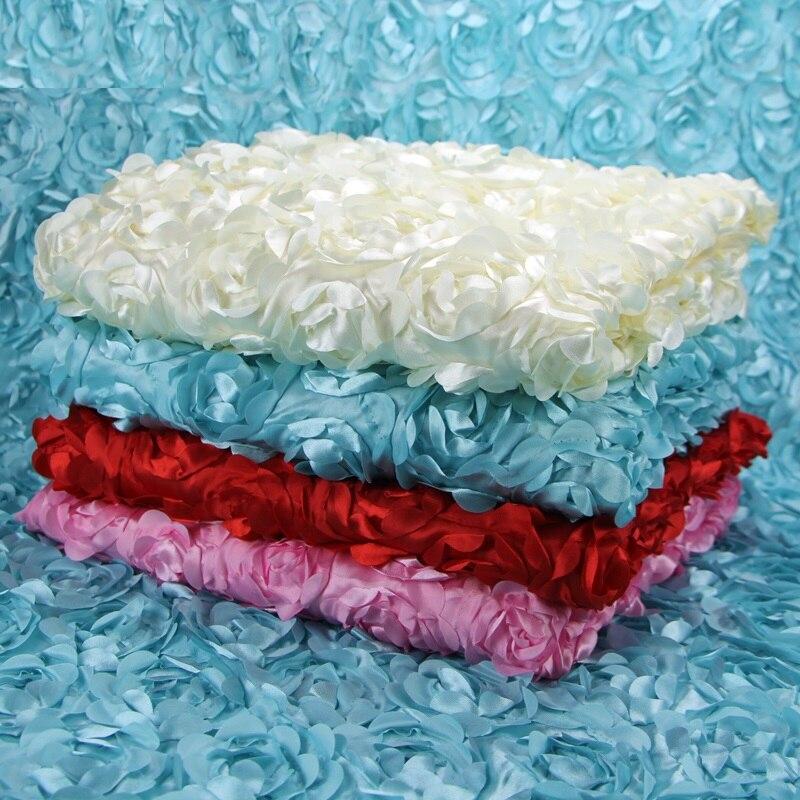 9.8 M 3D Cetim Rosa Tecido de Renda Bordar, favores Do Casamento vestido De Tecido De Costura De Vestuário Skirt Fundo Fotografia Pano Cama