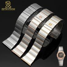 Bracelet de montre en acier inoxydable 15mm 17mm 18mm 23mm 25mm bracelet de montre adapté pour bracelet de montre en acier massif omega