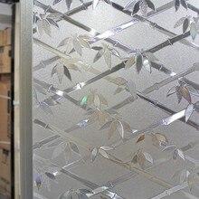 3D Window Films Privacy Window Sticker Static Decorative Bamboo Film Non-Adhesive Heat Control Anti UV Glass Film 45/90 x 300cm
