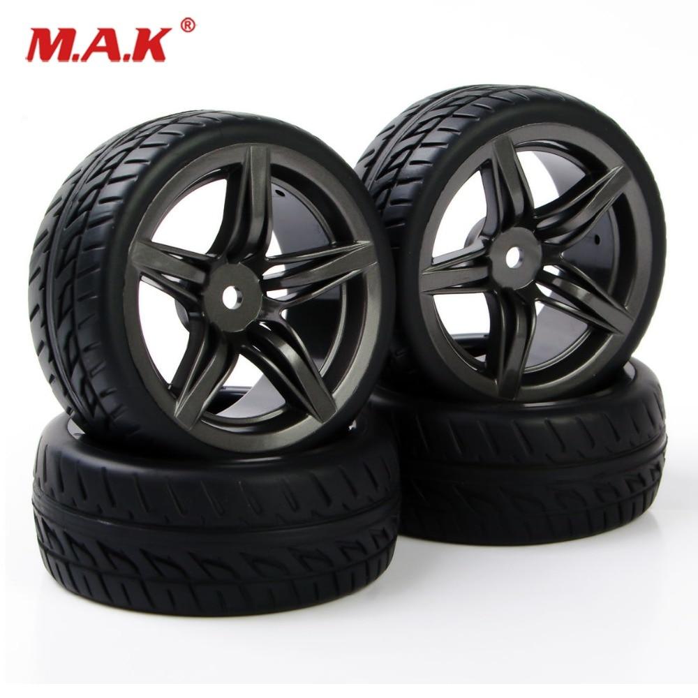 4 шт. 1:10 плоские автомобильные аксессуары для дороги резиновые шины диски для HSP HPI Racing RC 1/10 автомобильные шины и колеса PP0150 + 12FM