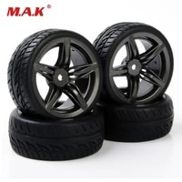 4pcs 110 flat on road car accessories rubber tires rims for hsp hpi racing rc 110 car tire and wheels pp015012fm