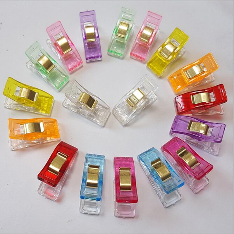 50 Uds de almacenamiento de alimentos Clip protector de bocadillo de mantenimiento fresco sellador de Clips claro de abrazaderas Clips de plástico paquete
