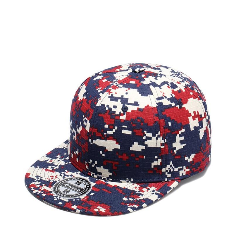 2019 nueva gorra de béisbol a la moda color de camuflaje a juego gorras ajustables de Snapback gorras de baile callejero de tendencia plana