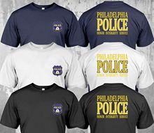 Nowy departament policji pensylwania Philadelphia Honor Intergrity Service T-Shirt dwustronnie nowy 2019 moda męska t-shirty